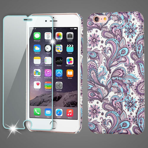 iPhone 6 Plus MYBAT Mod Leather Phone Case + Tempered Glass in 3 Designs - JandJCases