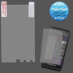 BLACKBERRY Z10 CLEAR SCREEN PROTECTOR TWIN PACK - JandJCases