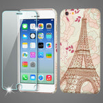 iPhone 6, MYBAT Mod Leather Phone Case with (Tempered Glass) - JandJCases