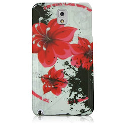 Galaxy Note 4 Silicone Red Lily Floral Phone Case - JandJCases