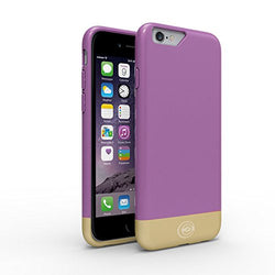 Flawless Series Designer Case for iPhone 6 in Black and Lilac/Gold - JandJCases