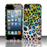 iPhone 5/5S/SE Rubberized Design Phone Case - Multi Leopard - JandJCases