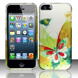 Apple iPhone 5/5S Rubberized Design Cover - Artistic Butterfly - JandJCases
