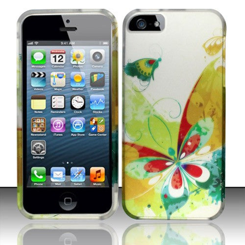 iPhone 5/5S/SE,  Rubberized Design Phone Case - Artistic Butterfly - JandJCases