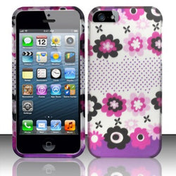 Apple iPhone 5/5S Rubberized Design Cover - Pink Blossom Flowers - JandJCases