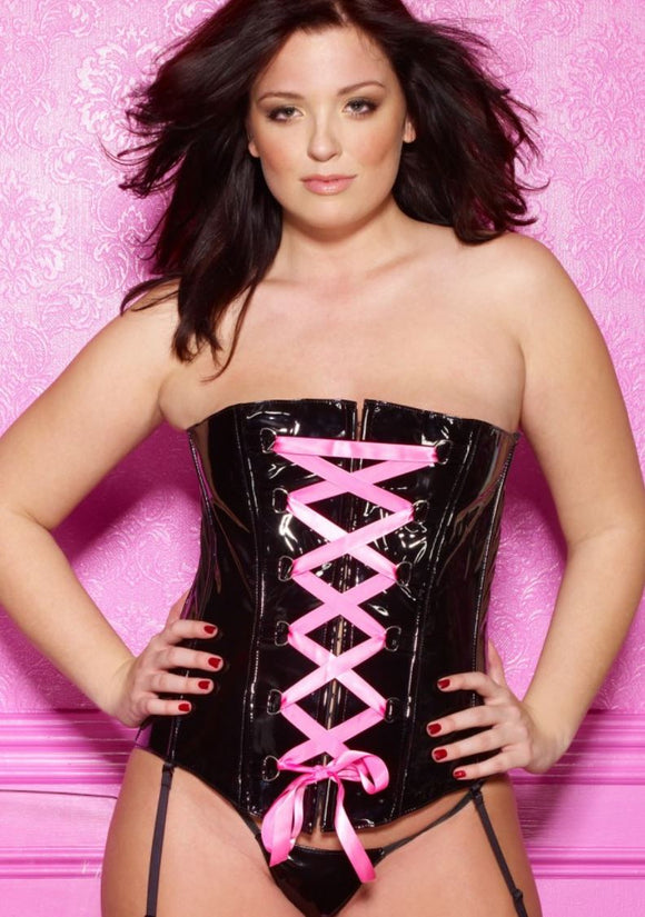 Allure Lingerie vinyl corset from Ginger Candy lingerie