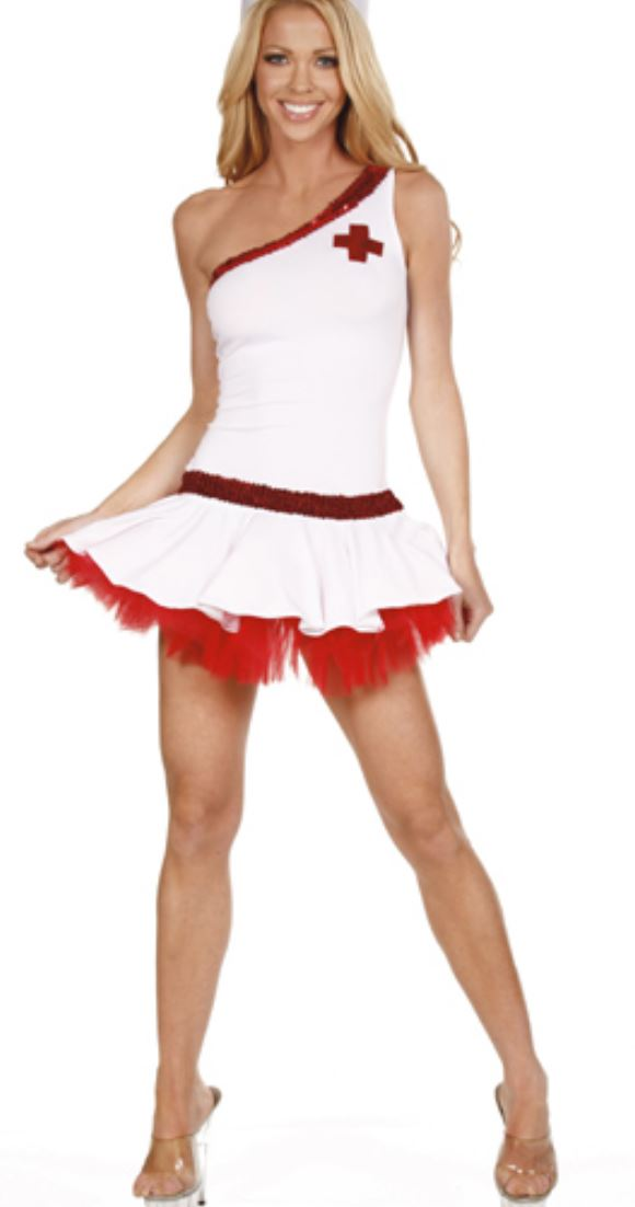 Nom de Plume Nurse costume from Ginger Candy lingerie