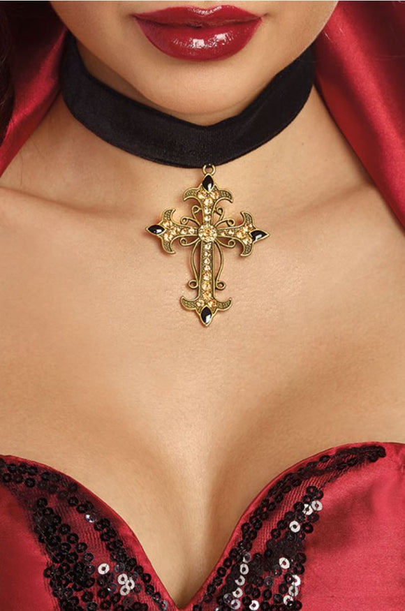 Dreamgirl cross choker from Ginger Candy lingerie