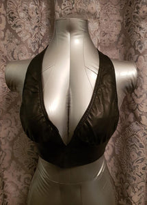 Elegant Moments leather bra from Ginger Candy lingerie