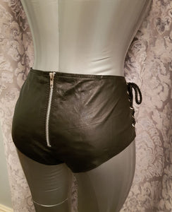 Elegant Moments leather shorts from Ginger Candy lingerie