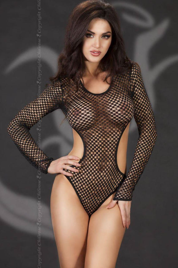 Chilirose open net body from Ginger Candy lingerie