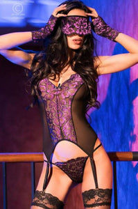 Chilirose lace corset from Ginger Candy lingerie