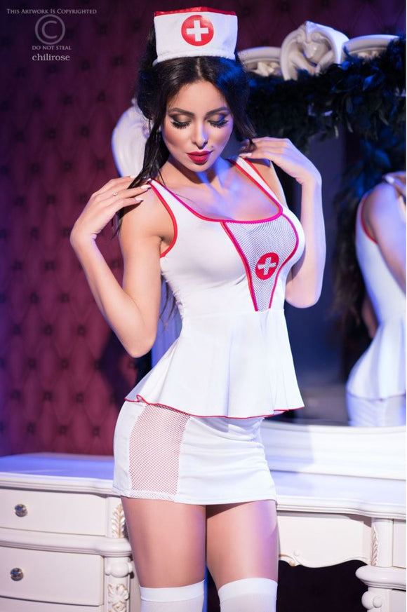 Chilirose nurse costume from Ginger Candy lingerie