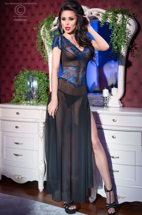 Chilirose long gown from Ginger Candy lingerie