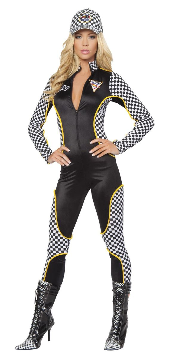 Roma race grid girl jumpsuit from Ginger Candy lingerie