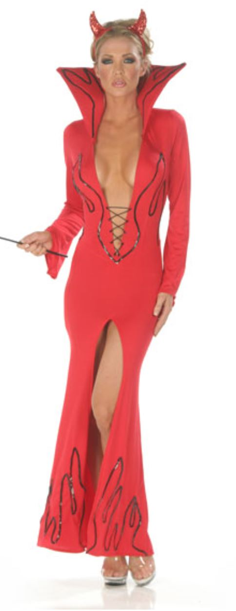 Nom de Plume devil dress costume from Ginger Candy lingerie