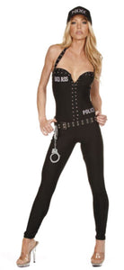 Nom de Plume Bad Ass Police jumpsuit from Ginger Candy lingerie