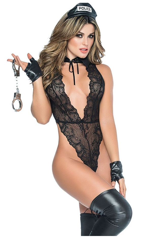 Mapale Police teddy costume from Ginger Candy lingerie