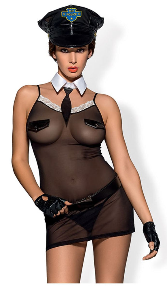 Obsesive Police costume from Ginger Candy lingerie