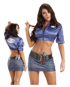 Escante bent pipe plumber costume from Ginger Candy lingerie