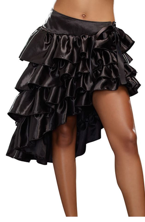 Dreamgirl asymmetrical ruffle skirt from Ginger Candy lingerie