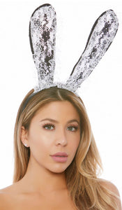 ForPlay lace bunny ear headband from Ginger Candy lingerie
