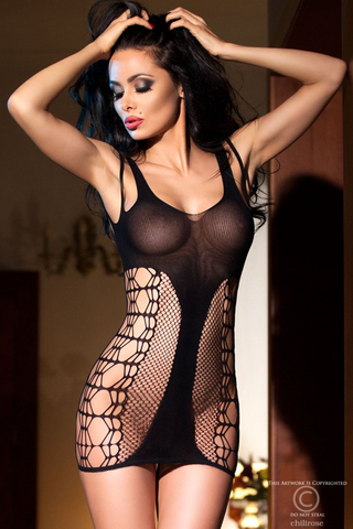 Chilirose seamless body minidress from Ginger Candy lingerie