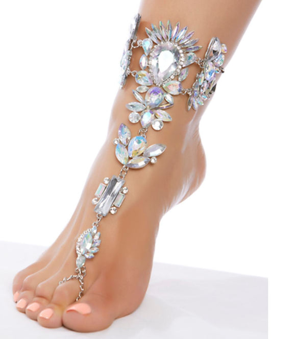 ForPlay rhinestone foot jewels from Ginger Candy lingerie