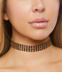 ForPlay rhinestone choker from Ginger Candy lingerie