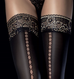 Fiore Sade hold up stockings from Ginger Candy lingerie