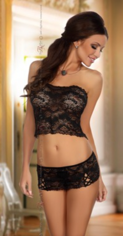 Beauty Night lace top and miniskirt set from Ginger Candy
