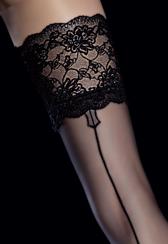 Fiore hold up stockings with backseam | Ginger Candy