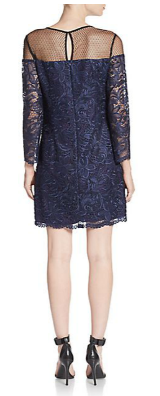 ABS guipure lace shift dress from Ginger Candy