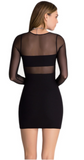 Peekaboo bodycon dress in black from Ginger Candy