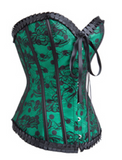 Corset lingerie in green from Ginger Candy