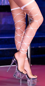 Chilirose wide net stockings from Ginger Candy lingerie