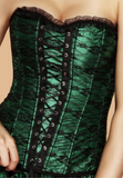 Corset lingerie dress in green from Ginger Candy