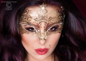 Chilirose decorative mask from Ginger Candy lingerie