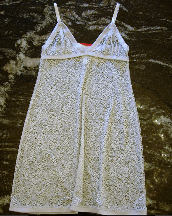La Perla sophia chemise in silver from Ginger Candy