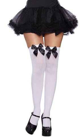 Dreamgirl bow top thigh-highs | Ginger Candy lingerie
