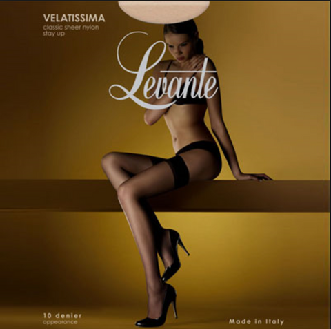 Levante Velatissima say up stockings from Ginger Candy