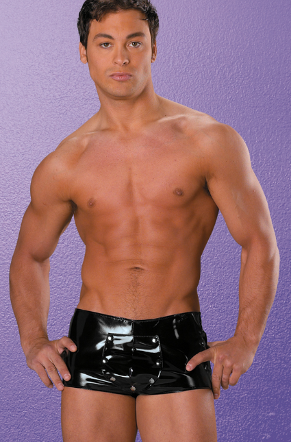 Allure Lingerie men's vinyl and lycra shorts from Ginger Candy