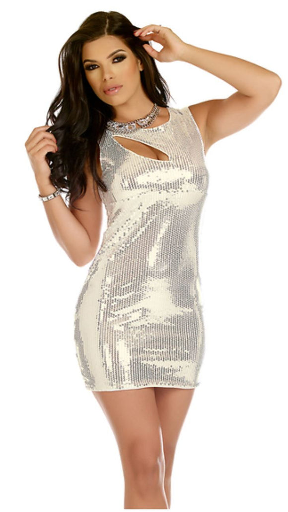 Forplay keyhole cut-out sequin dress | Ginger Candy lingerie