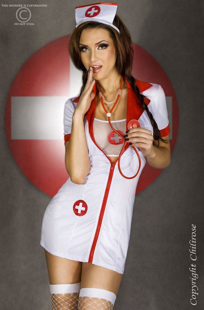Chilirose Nurse Fantasy Role Play Costume Ginger Candy