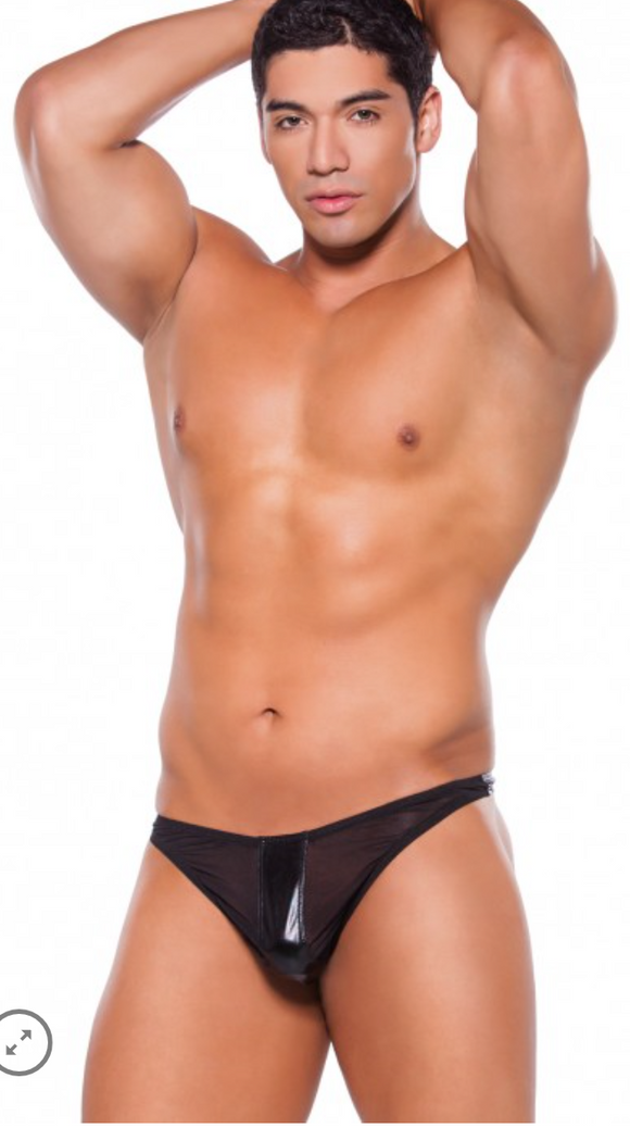 Allure Lingerie men's wet look thong from Ginger Candy