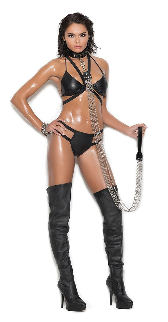 Elegant Moments leather set from Ginger Candy lingerie