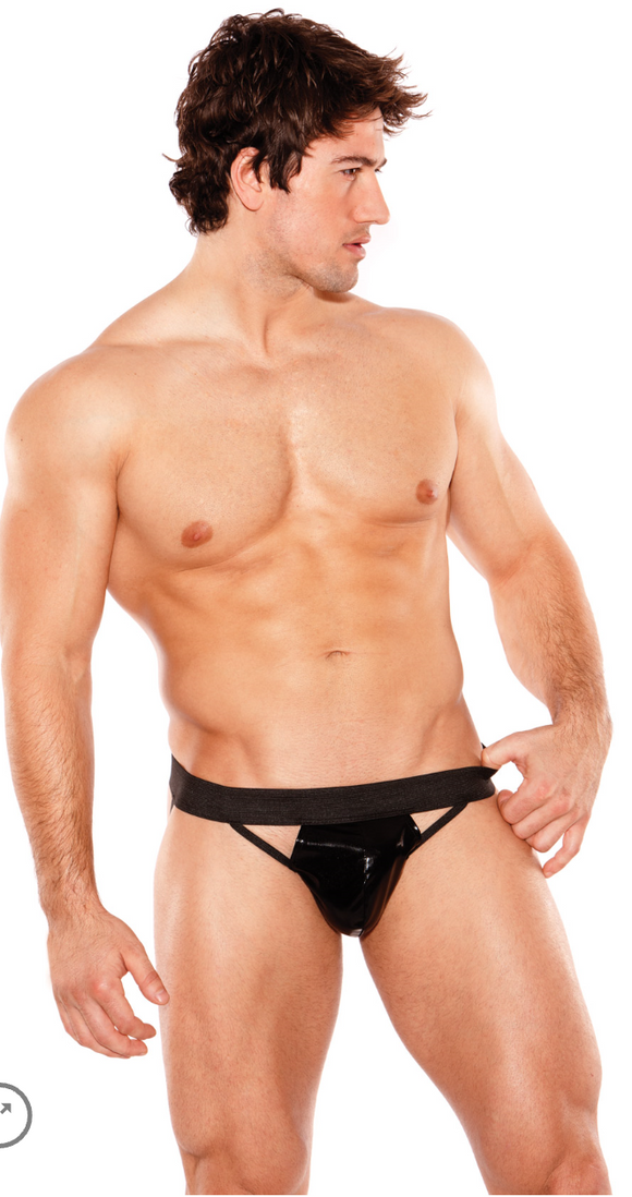 Allure Lingerie men's wet look jock strap from Ginger Candy