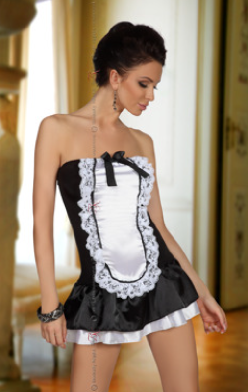 Beauty Night Maid costume from Ginger Candy lingerie