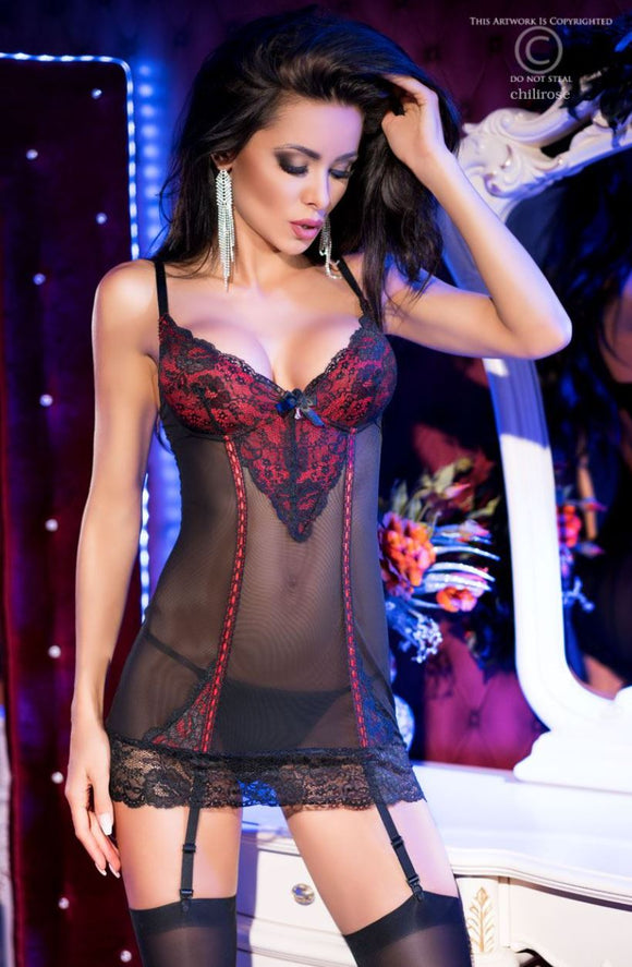 Chilirose chemise from Ginger Candy lingerie