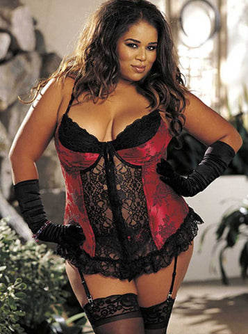 Shirley of Hollywood bustier from Ginger Candy lingerie